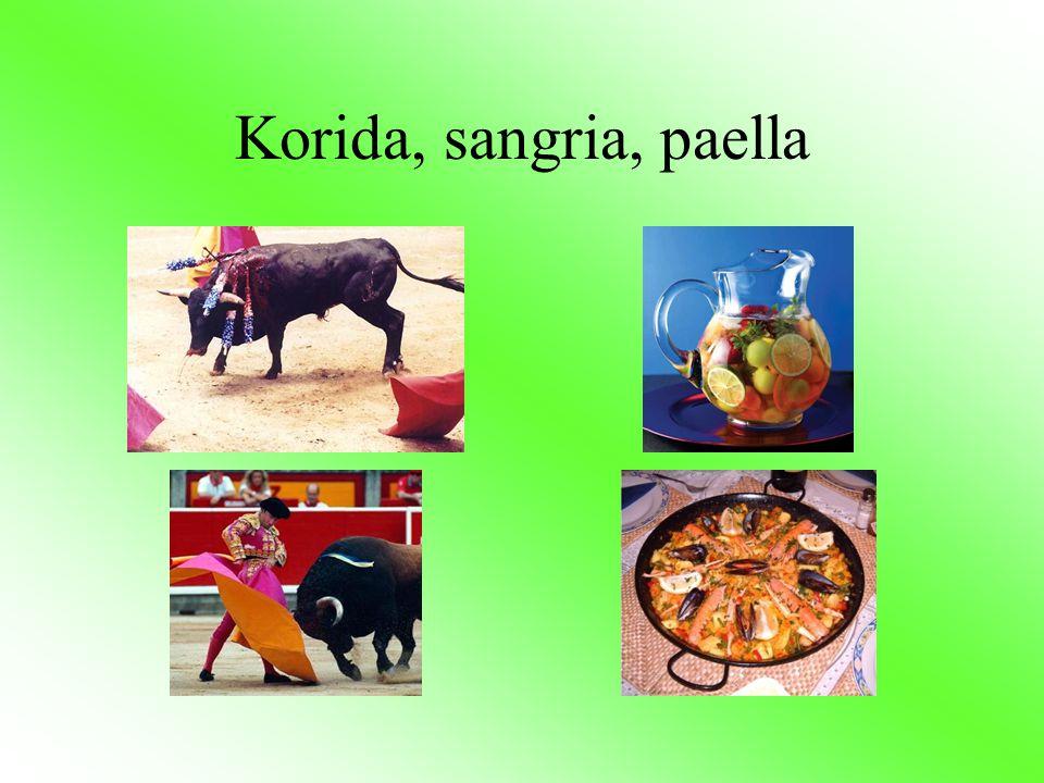 Korida, sangria, paella