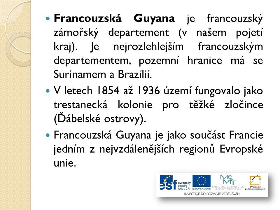 Francouzská Guyana je francouzský zámořský departement (v našem pojetí kraj). Je nejrozlehlejším francouzským departementem, pozemní hranice má se Surinamem a Brazílií.