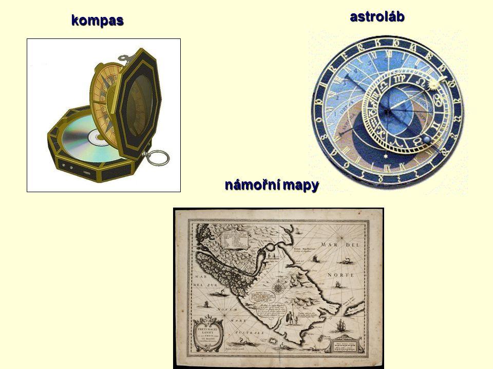 astroláb kompas námořní mapy