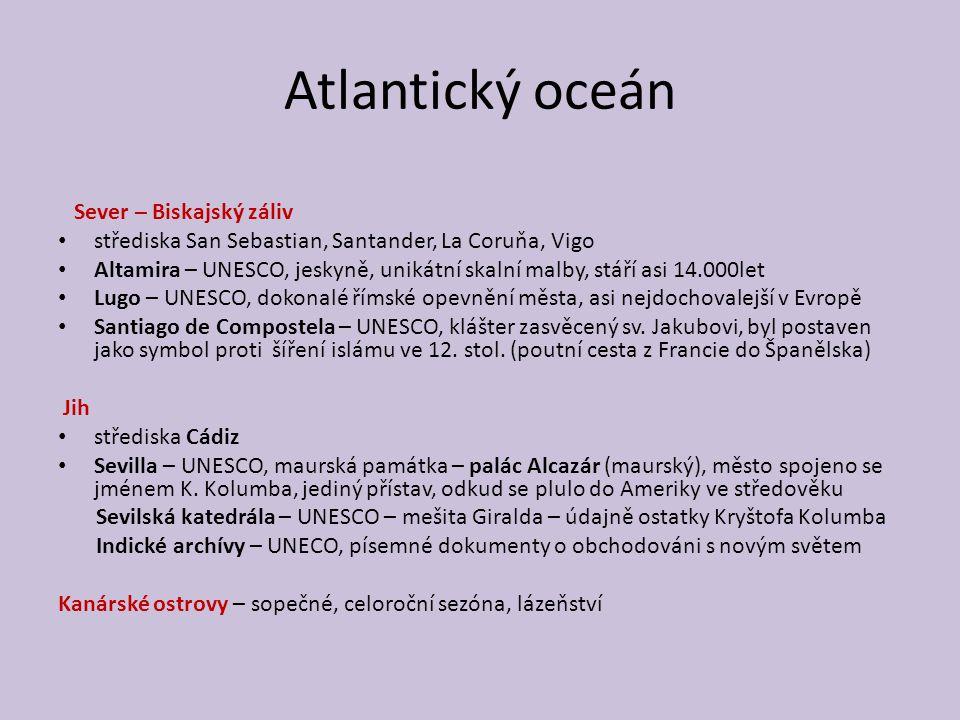 Atlantický oceán Sever – Biskajský záliv