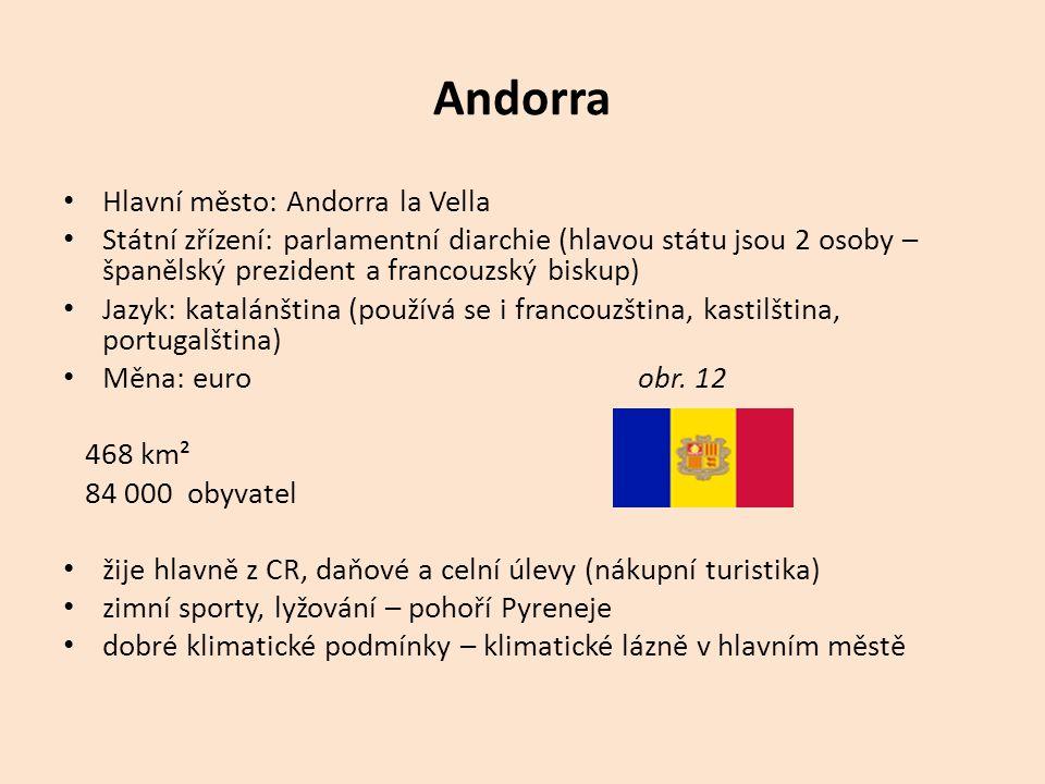 Andorra Hlavní město: Andorra la Vella