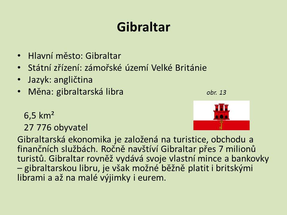 Gibraltar Hlavní město: Gibraltar
