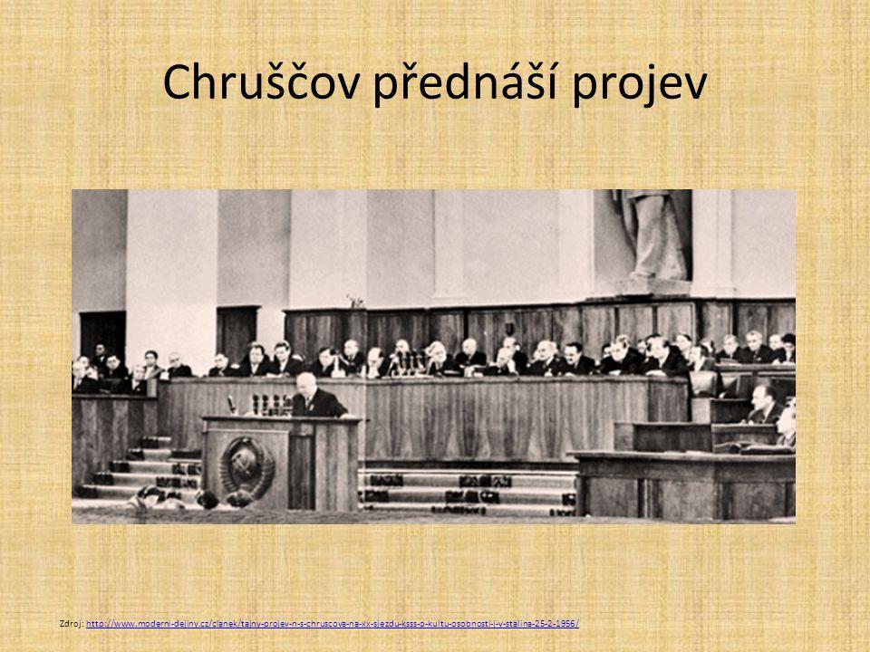 Chruščov přednáší projev