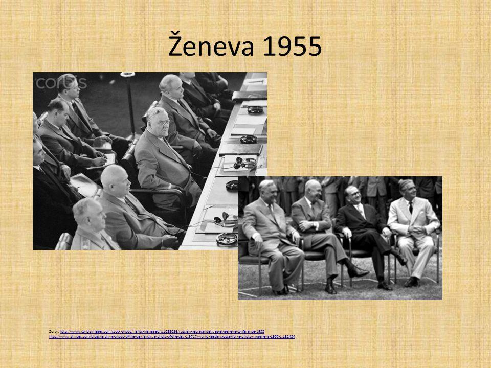 Ženeva 1955 Zdroj: http://www.corbisimages.com/stock-photo/rights-managed/U1088036/russian-representatives-at-geneva-conference-1955.