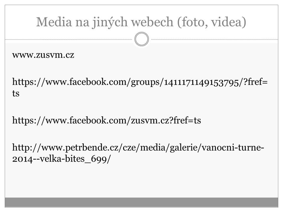 Media na jiných webech (foto, videa)