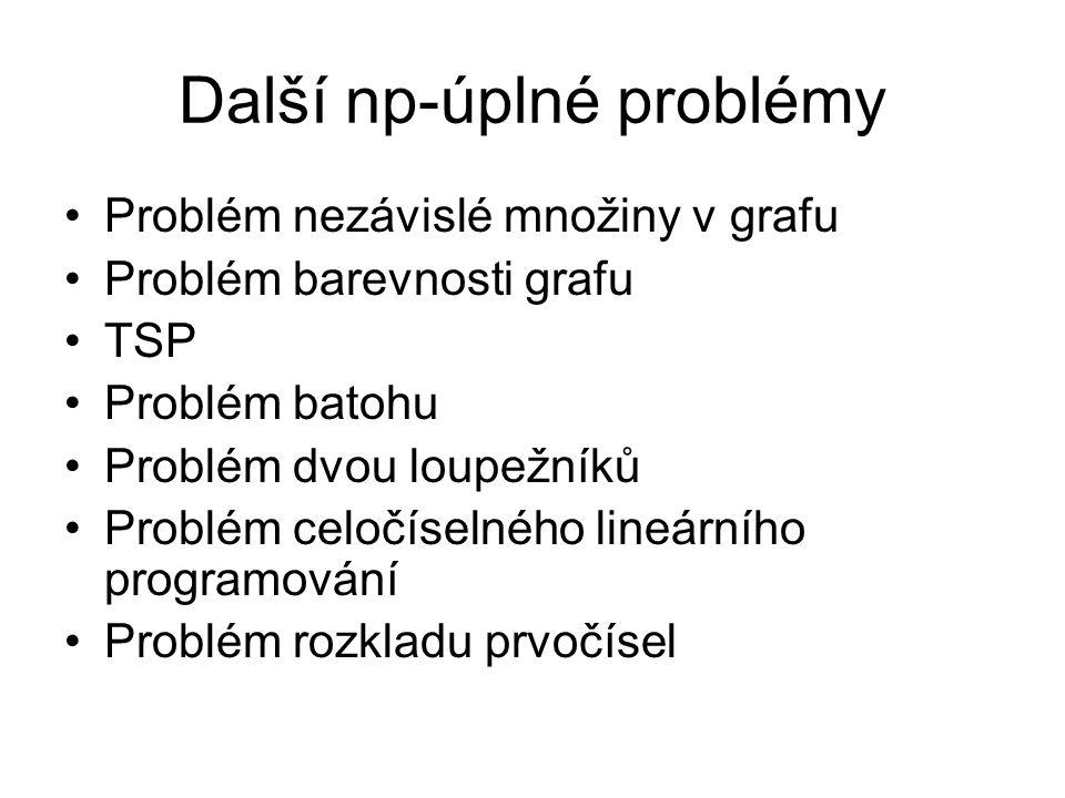 Další np-úplné problémy
