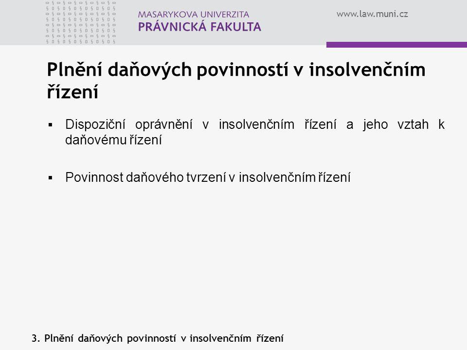 Plnění daňových povinností v insolvenčním řízení