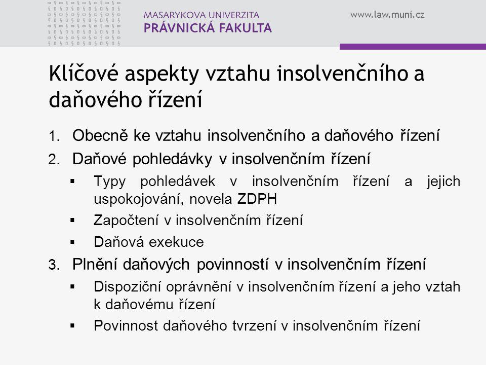 Klíčové aspekty vztahu insolvenčního a daňového řízení