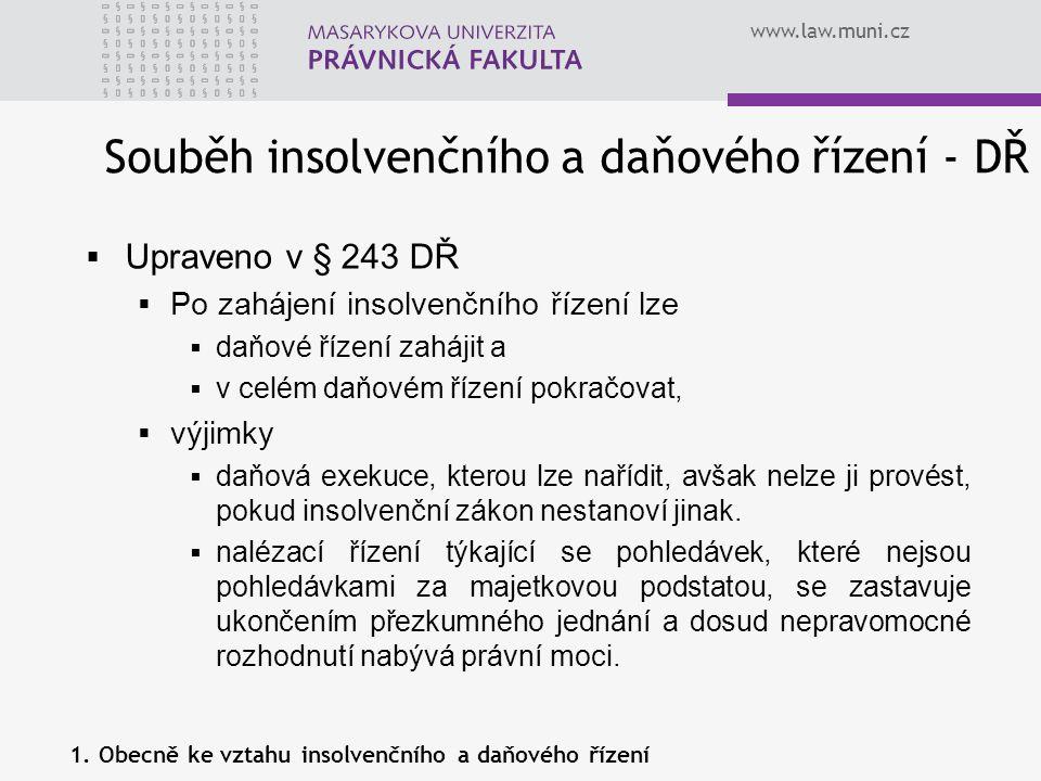 Souběh insolvenčního a daňového řízení - DŘ