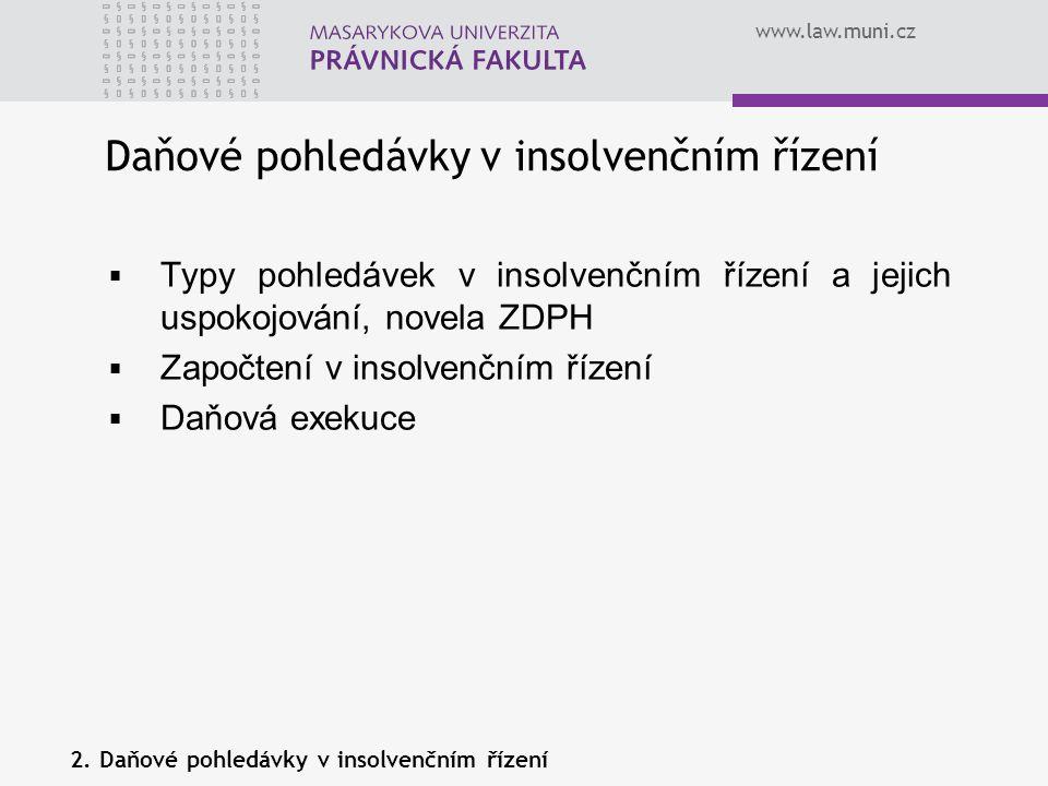 Daňové pohledávky v insolvenčním řízení