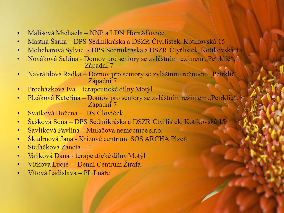 Mališová Michaela – NNP a LDN Horažďovice