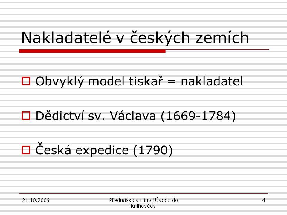 Nakladatelé v českých zemích