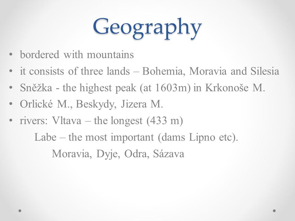 Geography bordered with mountains
