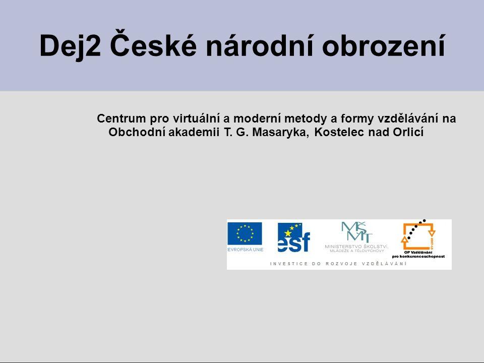 Dej2 České národní obrození