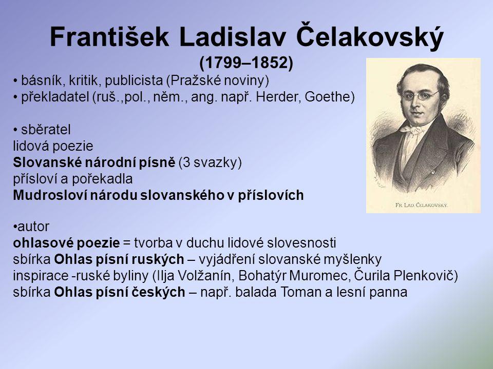 František Ladislav Čelakovský (1799–1852)