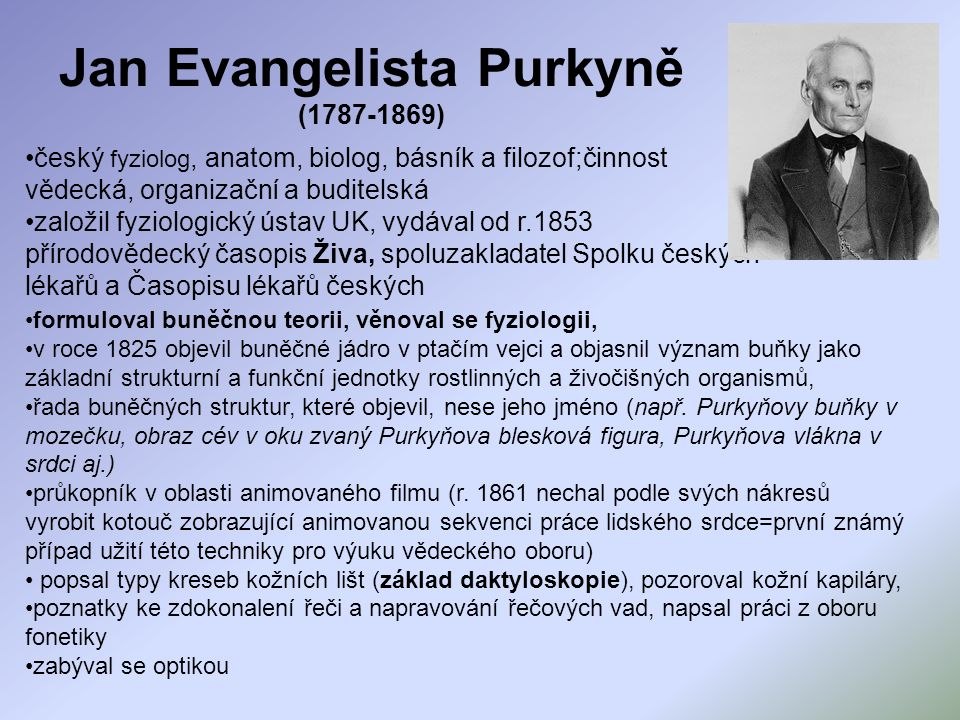 Jan Evangelista Purkyně (1787-1869)
