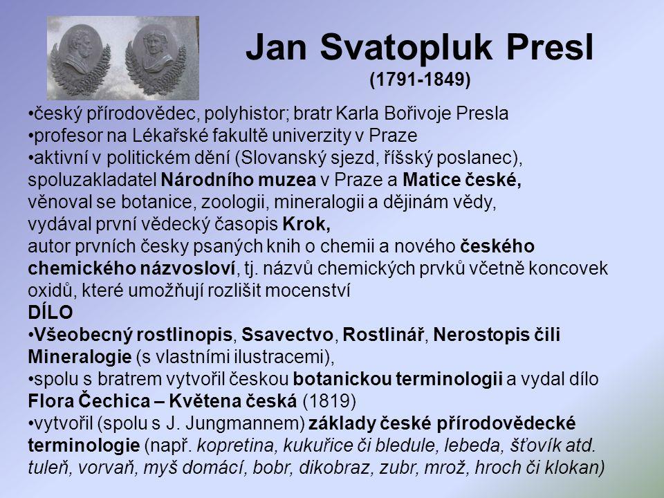 Jan Svatopluk Presl (1791-1849)