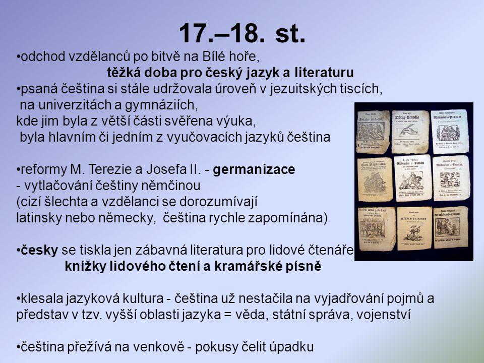 těžká doba pro český jazyk a literaturu