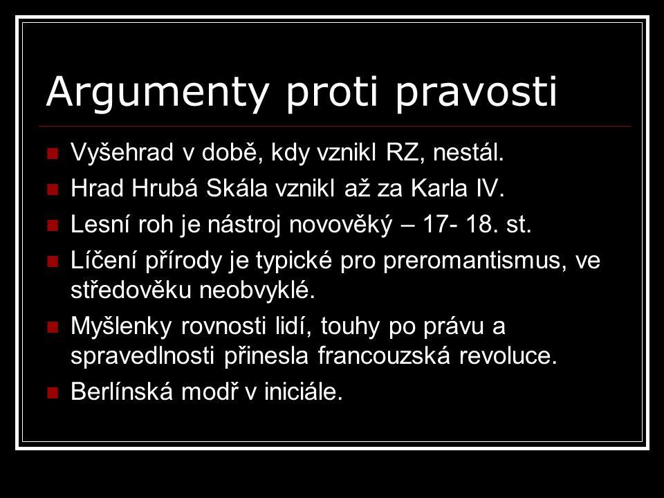 Argumenty proti pravosti