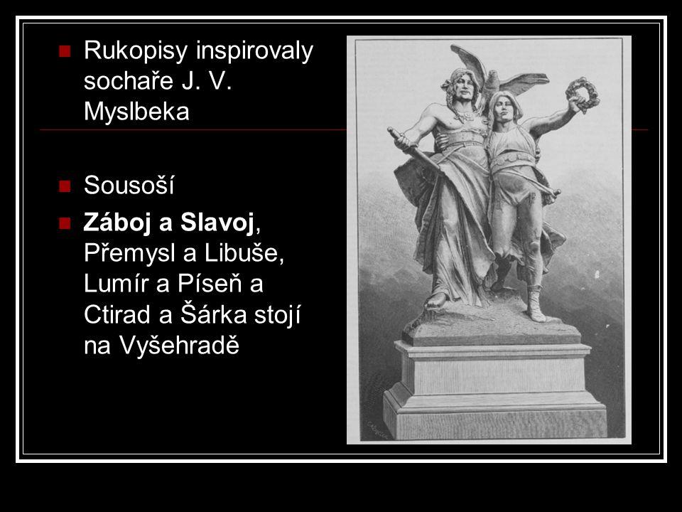Rukopisy inspirovaly sochaře J. V. Myslbeka