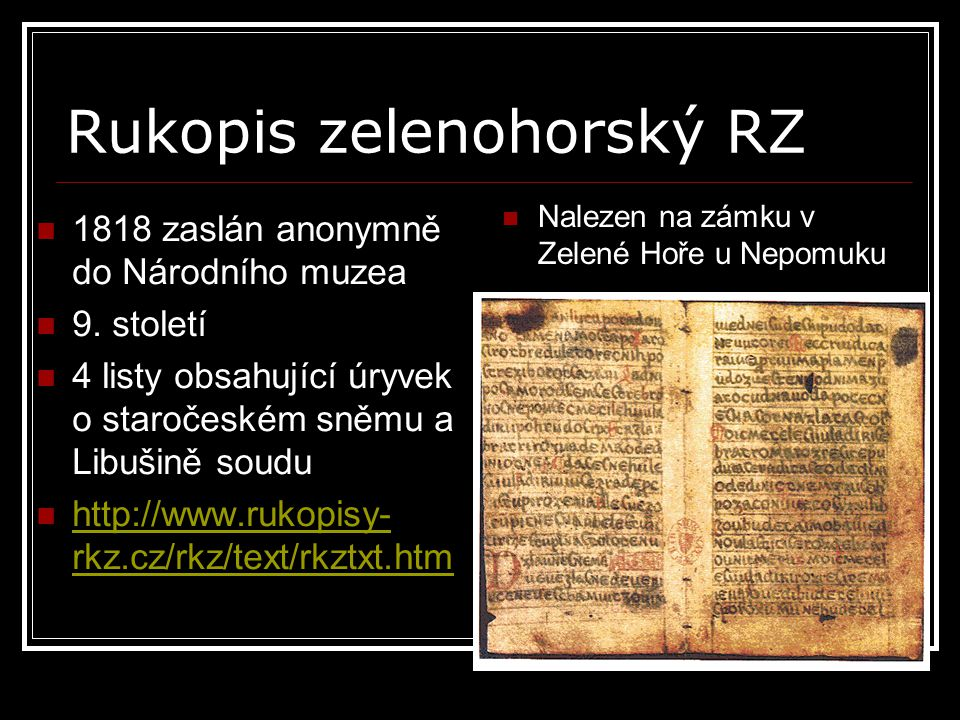 Rukopis zelenohorský RZ
