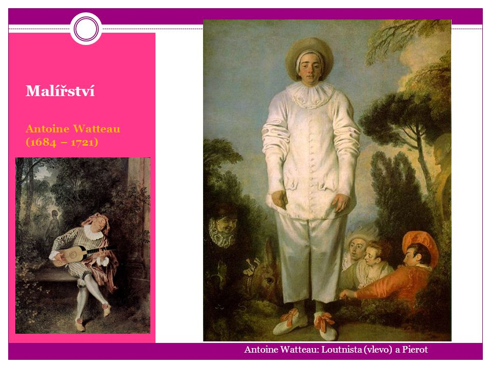 Malířství Antoine Watteau (1684 – 1721)