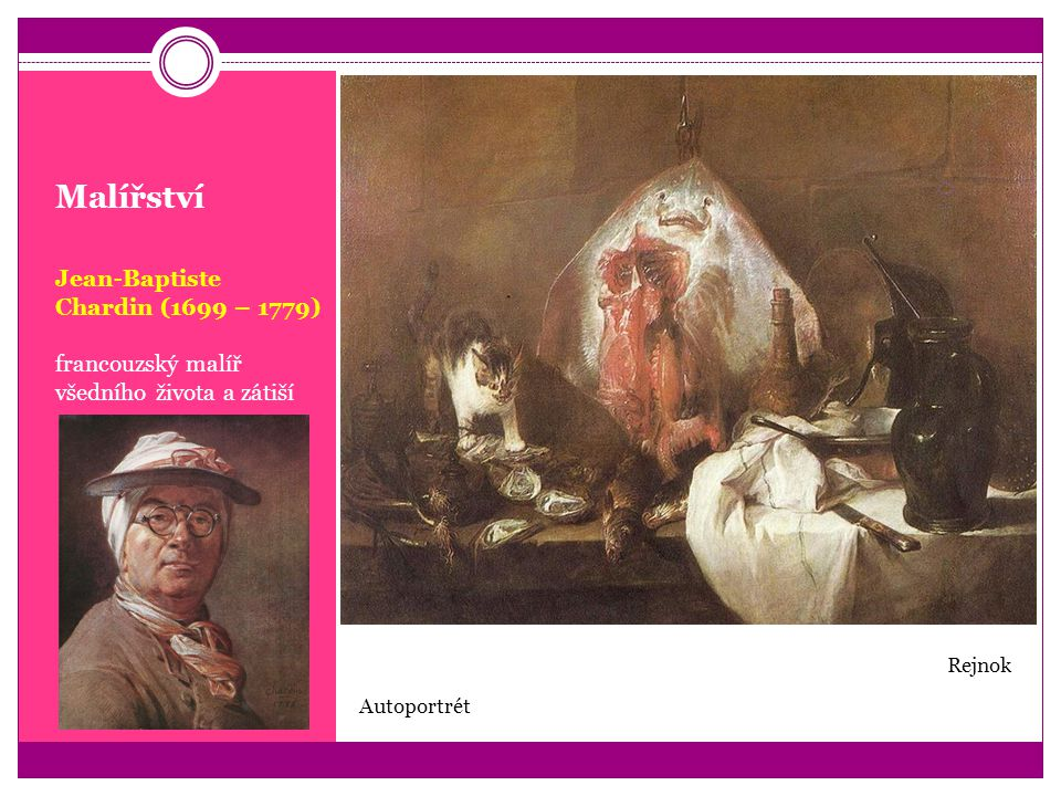 Malířství Jean-Baptiste Chardin (1699 – 1779)