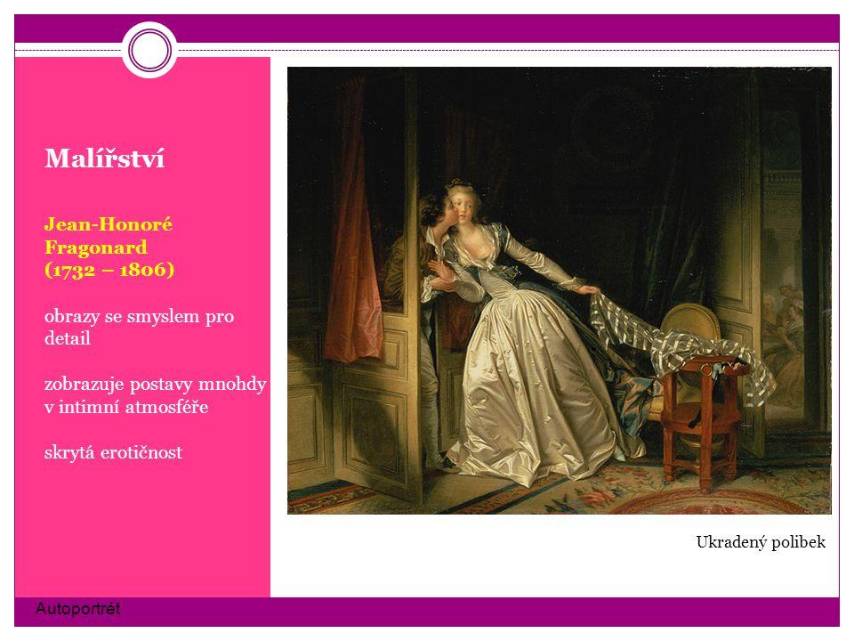Malířství Jean-Honoré Fragonard (1732 – 1806)