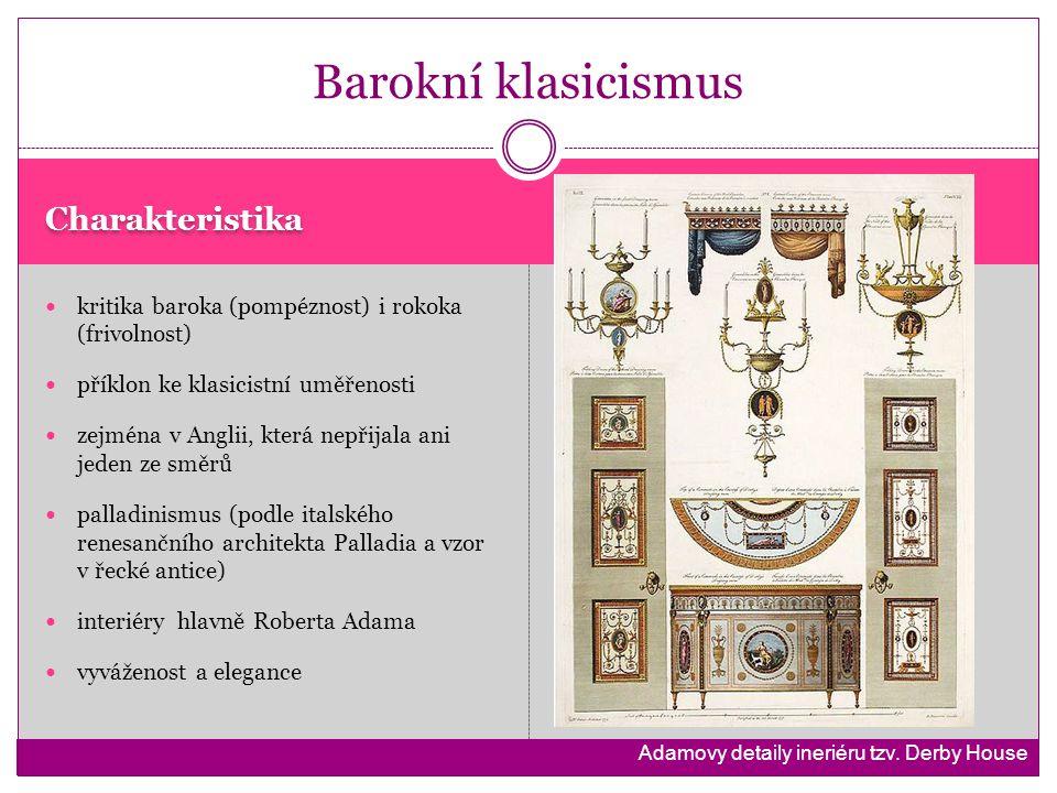 Barokní klasicismus Charakteristika