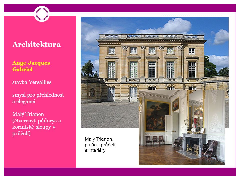 Architektura Ange-Jacques Gabriel stavba Versailles