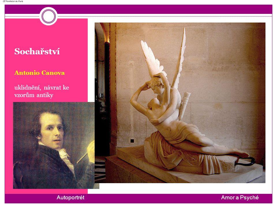 Sochařství Antonio Canova uklidnění, návrat ke vzorům antiky