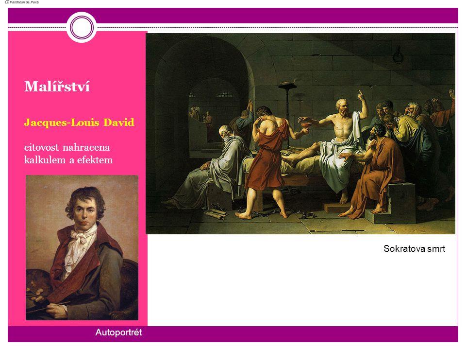 Malířství Jacques-Louis David citovost nahracena kalkulem a efektem