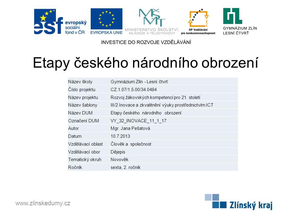 Etapy českého národního obrození