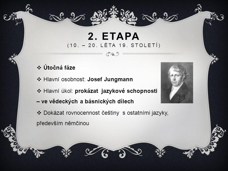 2. Etapa (10. – 20. léta 19. století) Útočná fáze