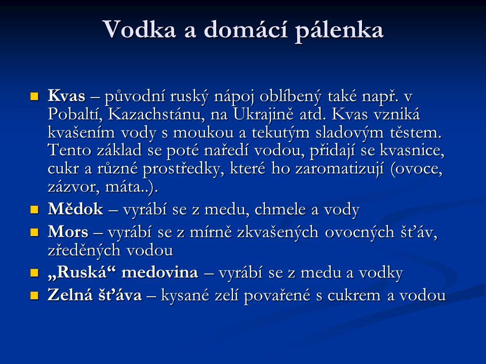 Vodka a domácí pálenka