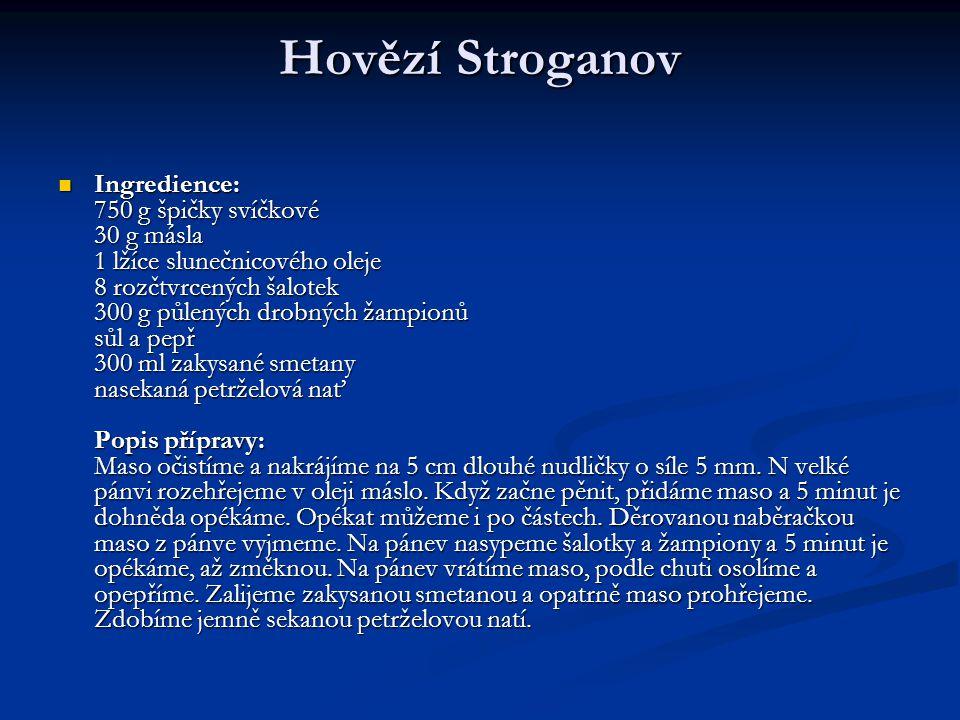 Hovězí Stroganov