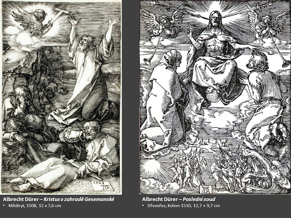 Albrecht Dürer – Kristus v zahradě Gesemanské