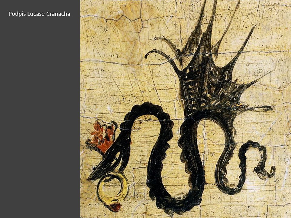 Podpis Lucase Cranacha