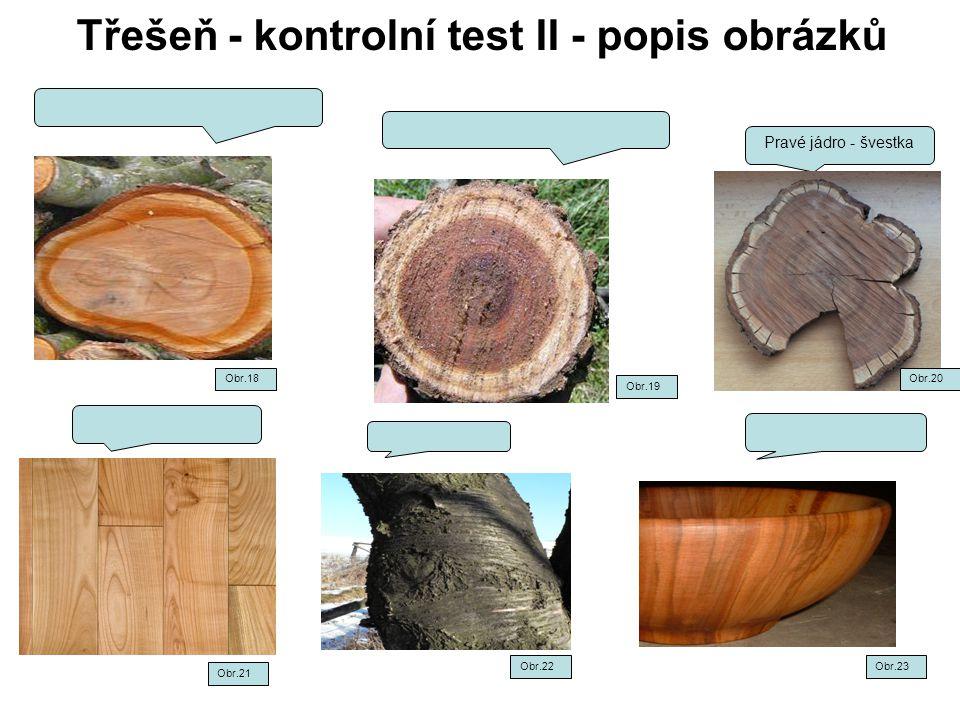 Třešeň - kontrolní test II - popis obrázků