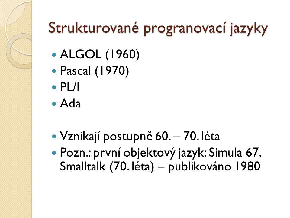 Strukturované progranovací jazyky