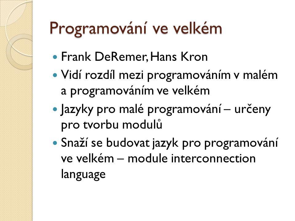 Programování ve velkém