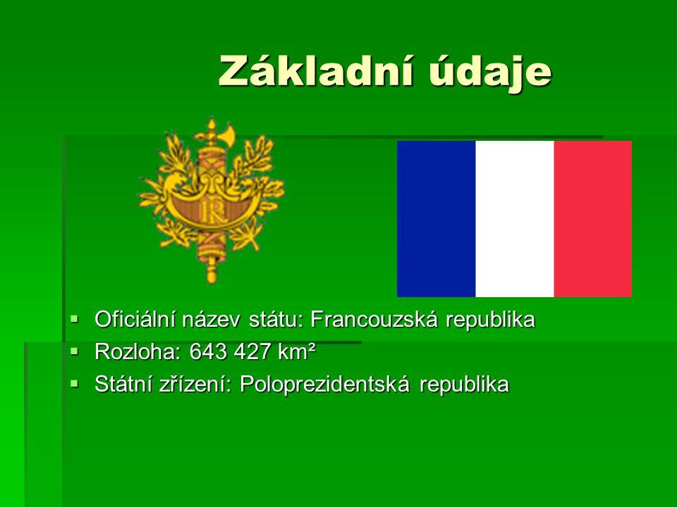 Základní údaje Oficiální název státu: Francouzská republika