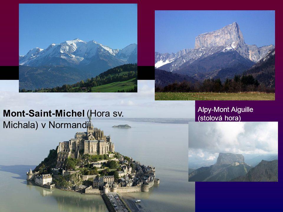 Mont-Saint-Michel (Hora sv. Michala) v Normandii