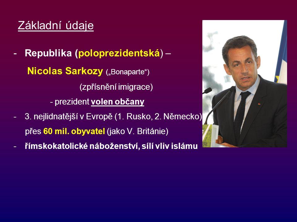 Základní údaje Republika (poloprezidentská) –