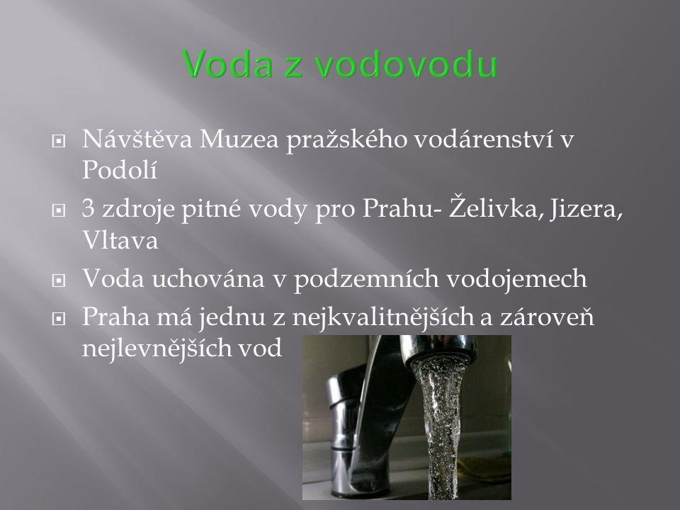 Voda z vodovodu Návštěva Muzea pražského vodárenství v Podolí