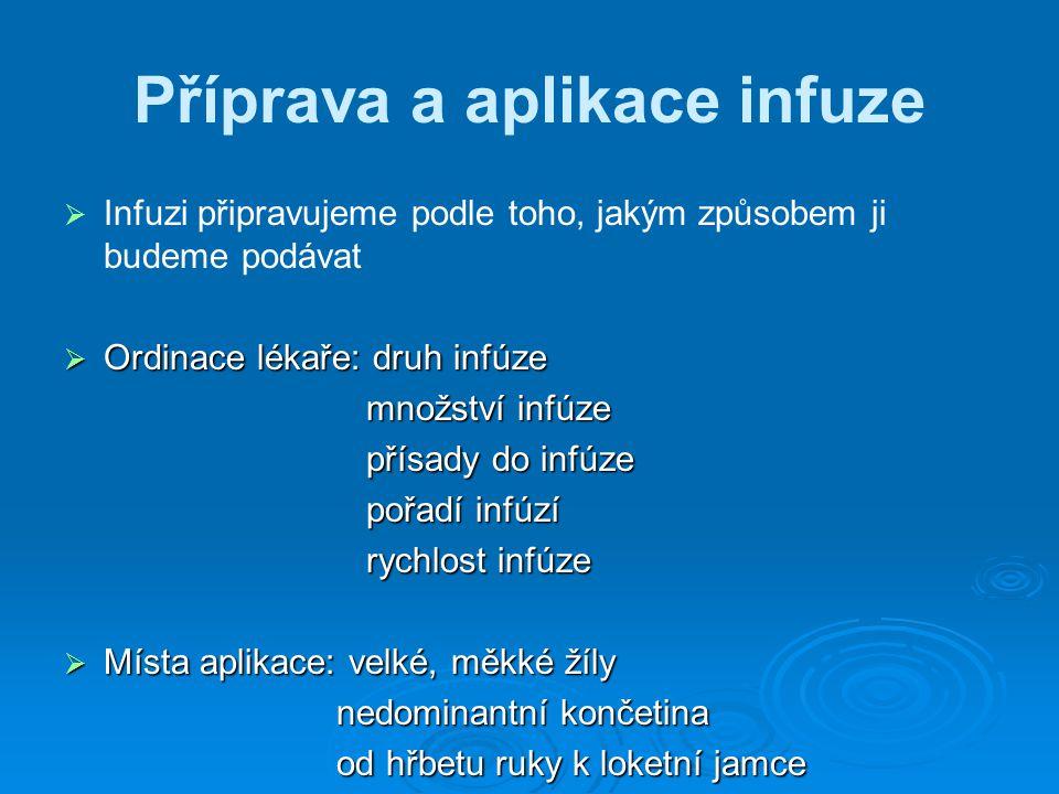 Příprava a aplikace infuze