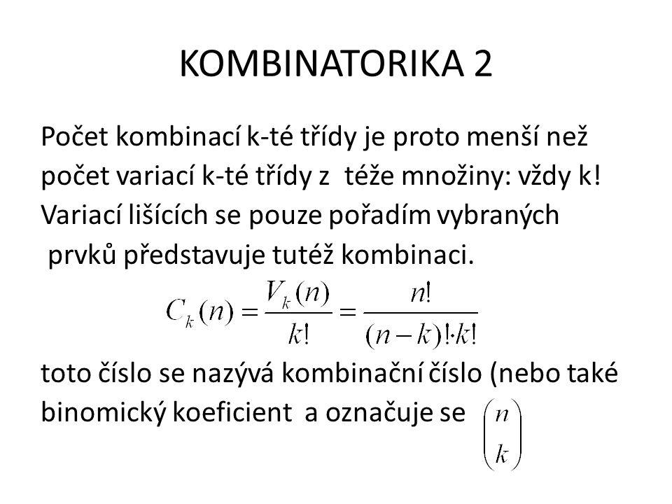 KOMBINATORIKA 2