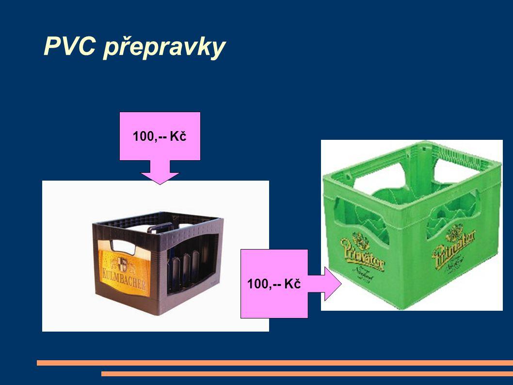 PVC přepravky 100,-- Kč 100,-- Kč