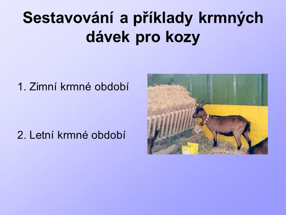 Sestavování a příklady krmných dávek pro kozy