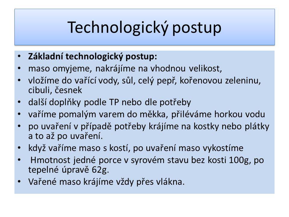 Technologický postup Základní technologický postup: